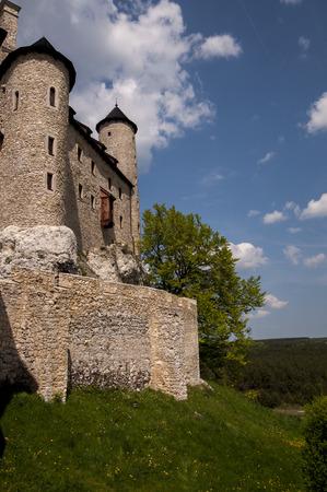 bobolice: knights castle in Bobolice, Poland