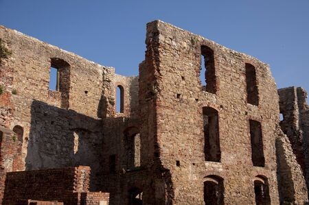 ruined: ruined castle in Siewierz, Poland