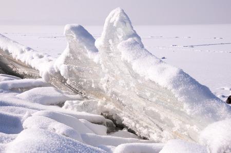 interstice: ice floe  - frozen lake