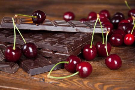 craving: chockolate and cherry Stock Photo