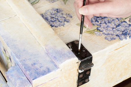 decoupage: handmade decoupage Stock Photo