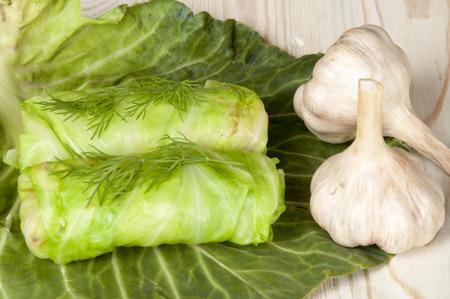 stuffed: stuffed cabbage Stock Photo