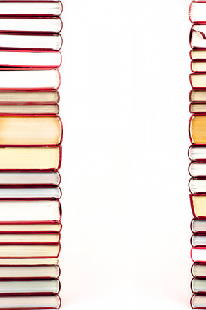 bibliophile: books in a row with place for your text
