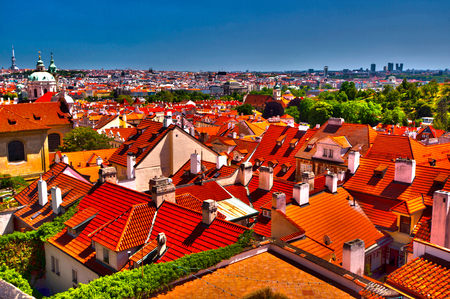 Pragues roofs - view from Hradcany