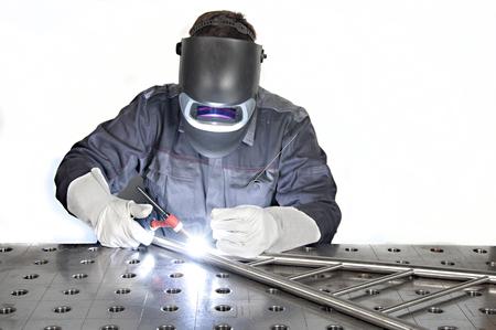 Metal Inert Gas / Metal Active Gas - MIG, MAG welding 스톡 콘텐츠