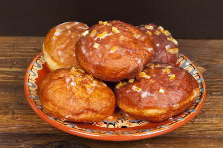 polish donuts - fat thursday Banco de Imagens