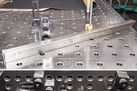 professional welding table Stockfoto
