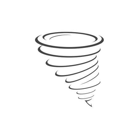 Tornado and cyclone symbol vector illustration design Vetores