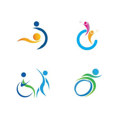 disability logo set vector illustration design template - vector