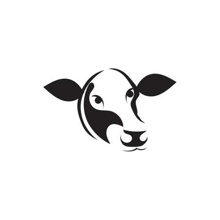 Cow Template vector icon illustration design