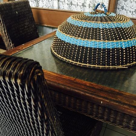 furniture: rattan furniture
