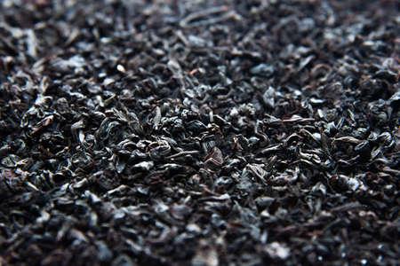Black tea as a background. Black tea is scattered. Tea leaves are dried. 写真素材