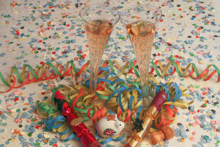 Champagne and Happy New Year Stock Photo - 8530832