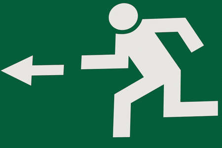 salida de emergencia: salida de emergencia Foto de archivo