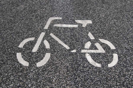 bikeway: pictogram of a bicycle Stock Photo