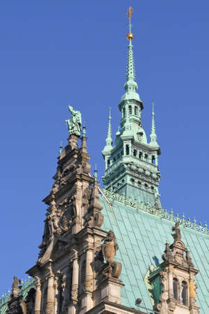 pompous: the town hall of Hamburg, Germany