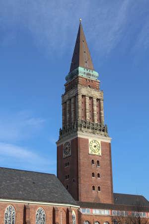 kiel: town hall tower of Kiel, Germany