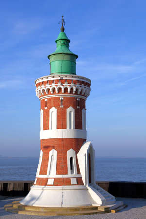 navigational light: the lighthouse  Pingelturm  in Bremerhaven, Germany