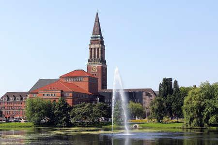 kiel: the city hall tower of Kiel, Germany