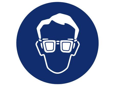 pictogramme de protection des yeux Banque d'images