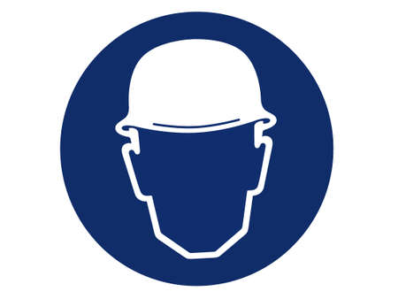 head protection: pictogram of head protection