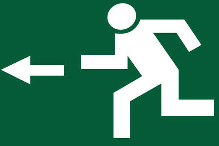 pictogram escape  photo