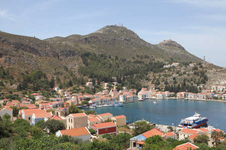 harbor of Megisti on the greek island Kastelorizo photo