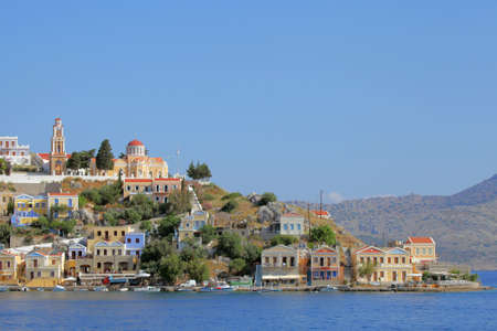 the picturesque island of Symi, Greece photo