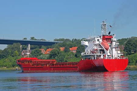 shipload: freighter on Kiel Canal