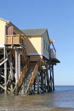 pile dwelling: pile dwelling on the North Sea coast
