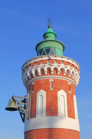 navigational light: details of the lighthouse Pingelturm in Bremerhaven