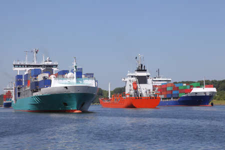 shipload: tanker and container ships