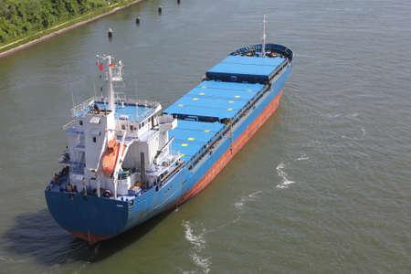 freighter on Kiel Canal