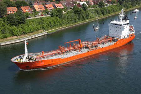 tanker on Kiel Canal  photo