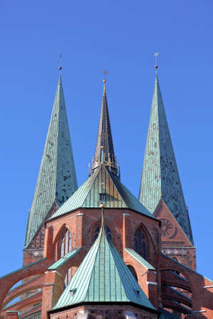 pompous: Saint Mary s church of Luebeck, Germany
