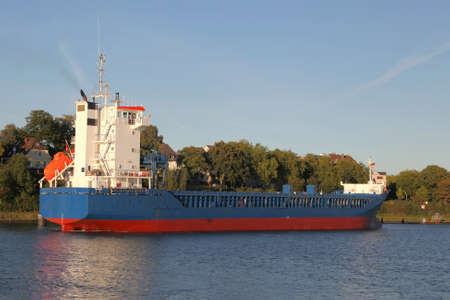 kiel: freighter on Kiel Canal