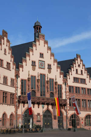 roemer: town hall Roemer in the old town of Frankfurt, Germany