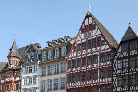 timbered houses in the old town of Frankfurt, Germany photo