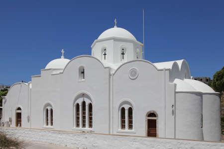 church in the village Kambos on Patmos island, Greece