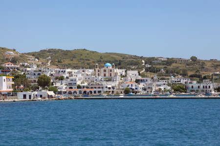habor of Lipsi island, Greece Stock Photo