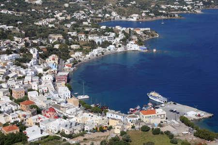 harbor of Agia Marina on Leros island, Greece Stock Photo