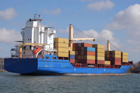 shipload: container ship with cranes
