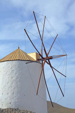 place of interest: windmill in Chora on the greek island Astypalaia