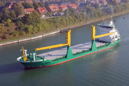 freighter with cranes