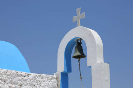 detail of a small greek church Stock Photo