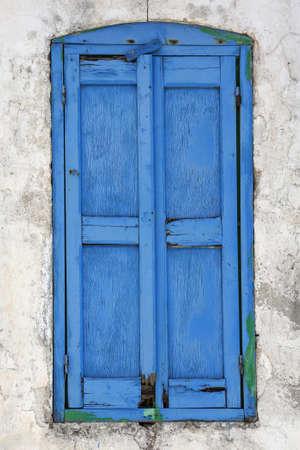 old wooden window in Greece