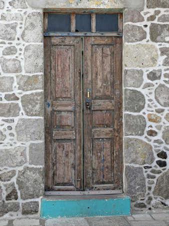 old door on Nisyros, Greece