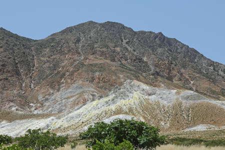 volcanic landscape on the island Nisyros, Greece