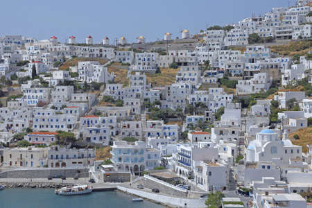 the village Chora on the island Astypalaia, Greece