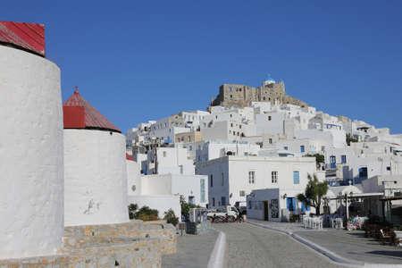 the village Chora on the greek island Astypalaia